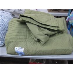 GREEN LINEN BED DUVET COVER