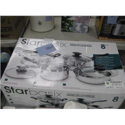 STARBASIX 8PC STAINLESS COOKWARE SET