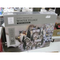 31 PC WINTER VILLAGE BATTERY OPERATED
