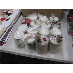 15PC SCENTED XMAS CANDLES