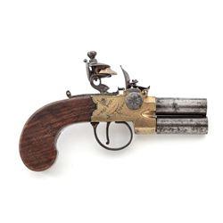 Goodwin  Co. O/U Flintlock Pistol
