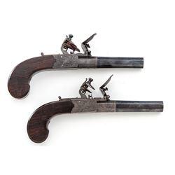 Pair of Edgson Flintlock Belt Pistols