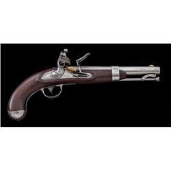 Mex. War Era M.1836 Flintlock Martial Pistol