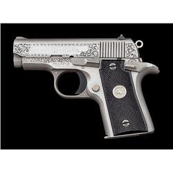Eng'd Colt Mustang MK IV Ser. 80 Semi-Auto Pistol