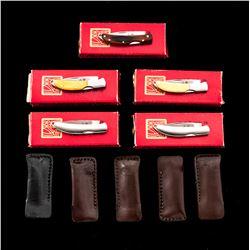 Lot of Five (5) NIB Al Mar Osprey Folding Knives