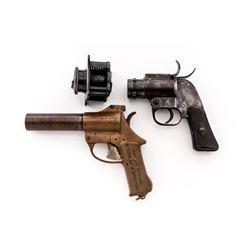 Lot of 2 WWII U.S. Flare Pistols