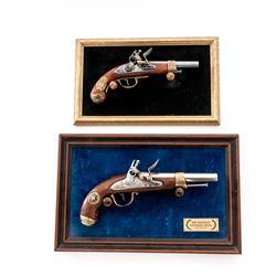 Lot of 2 Franklin Mint Military Flintlock Pistols