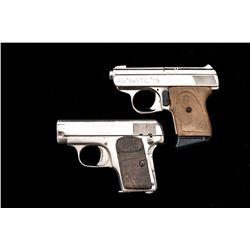 Lot of 2 .25 Cal. Nickel Semi-Auto Pistols