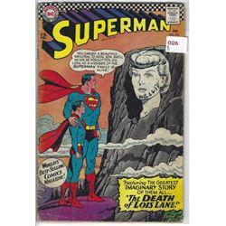 """VINTAGE DC """"SUPERMAN"""" COMIC #194 FEB 12 CENTS NELLIE WRITTEN ON LADIES FACE"""
