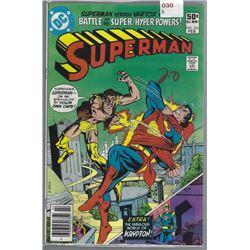 "VINTAGE DC ""SUPERMAN"" COMIC #356 FEB $.50 20 WRITTEN ON COVER"