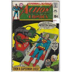 """VINTAGE DC """"ACTION COMICS"""" #387 APR $.15"""