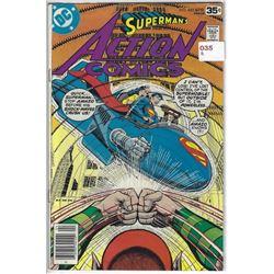 """VINTAGE DC """"ACTION COMICS"""" #482 APR $.35 30410"""