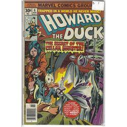 """HOWARD THE DUCK"" MARVEL COMIC #6 NOV 30 CENTS"