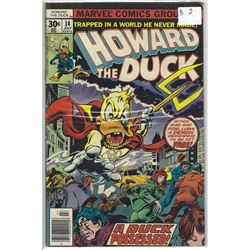 """""""HOWARD THE DUCK"""" MARVEL COMIC #14 JULY 30 CENTS"""