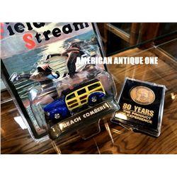 Louis Chevrolet 80th Anniversary Medal 1999 Field & Stream Company Minicar 2 Piece Set