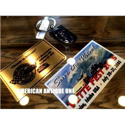 Bet Festival 2005/1993 Thunder in Stillwater Metal Plate / Ford Keychain 3 Piece Set
