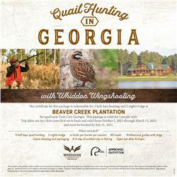 Georgia Quail Hunt for 4