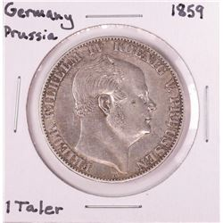 1859 Germany Prussia 1 Taler Silver Coin