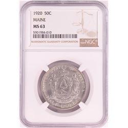 1920 Maine Centennial Commemorative Half Dollar Coin NGC MS63