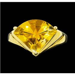 14KT Yellow Gold Ladies 4.00 ctw Citrine Ring