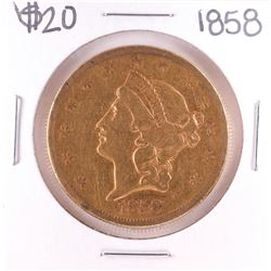 1858 $20 Liberty Head Double Eagle Gold Coin
