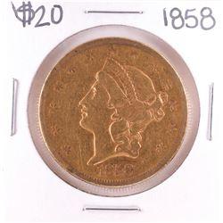 1858 $20 Liberty Head Double Eagle Gold Coin