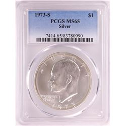 1973-S Eisenhower Silver Dollar Coin PCGS MS65