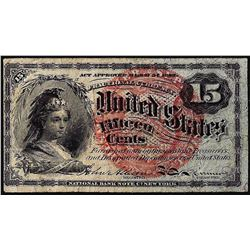 March 3, 1863 Fourth Issue Fifteen Cent Fractional Currency Note