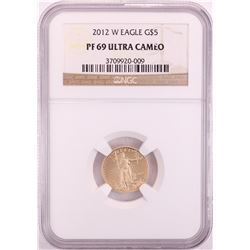 2012-W $5 Proof American Gold Eagle Coin NGC PF69 Ultra Cameo