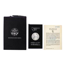 1883-CC $1 Morgan Silver Dollar Coin GSA Hoard Uncirculated with Box & COA
