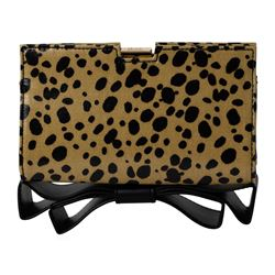 NWT Zac Posen Leopard Print Bow Clutch Bag