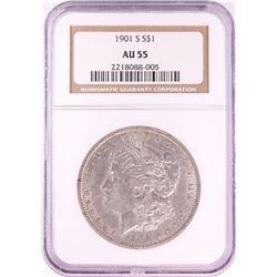 1901-S $1 Morgan Silver Dollar Coin NGC AU55