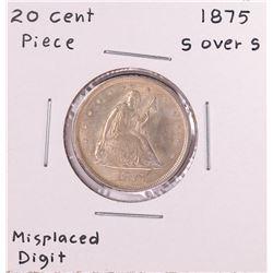 1875 S over S Twenty Cent Piece Coin