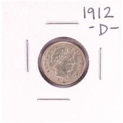 1912-D Barber Dime Coin