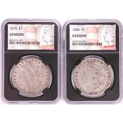 Lot of 1879-1880 $1 Morgan Silver Dollar Coins NGC Genuine