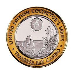.999 Silver Traverse Bay Casino Peshawbestown, MI $10 Limited Edition Gaming Token