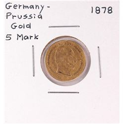 1878 Germany-Prussia 5 Mark Gold Coin