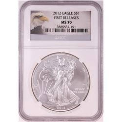 2012 $1 American Silver Eagle Coin NGC MS70 First Releases