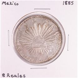 1885 Mexico 8 Reales Silver Coin