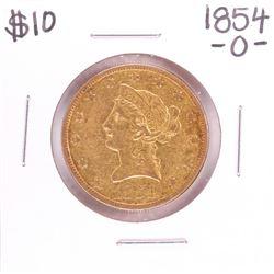 1854-O $10 Liberty Head Eagle Gold Coin