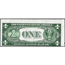 1935D $1 Silver Certificate Misalignment ERROR Note