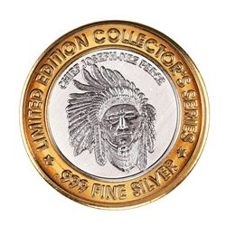 .999 Silver Jackpot Junction Mortin, MN $10 Casino Limited Edition Gaming Token