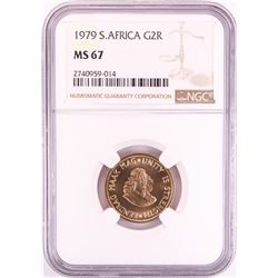 1979 South Africa 2 Rand Gold Coin NGC MS67