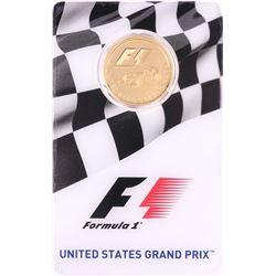 2016 $25 Proof Solomon Islands Formula One United States Grand Prix Gold Coin