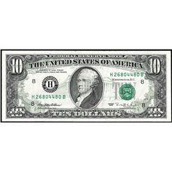 1995 $10 Federal Reserve Full Offset ERROR Note