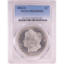 1884-O $1 Morgan Silver Dollar Coin PCGS MS63DMPL