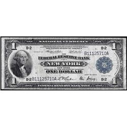 1918 $1 Federal Reserve Bank of New York Note
