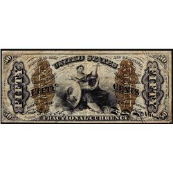 March 3, 1863 Third Issue 50 Cents Spinner Fractional Currency Note Fr.1372