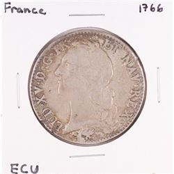 1766 France Louis XV ECU Silver Coin