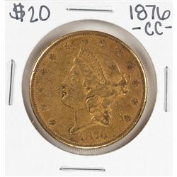 1876-CC $20 Liberty Head Double Eagle Gold Coin